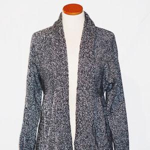 Karen Scott Open Front Shawl Sweater M